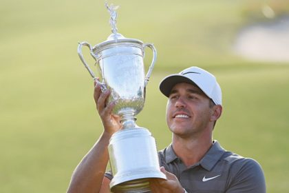 Brooks Koepka with Trophy