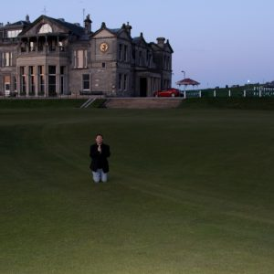 A Prayer to the Golf Gods in the Valley of Sin at St. Andrews