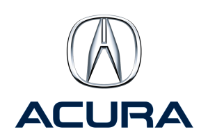 Acura Logo blue and metal