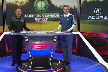 Golf Talk Canada Mark and Bob on set