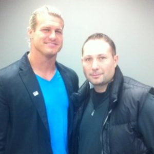 Mark Zecchino with WWE Superstar Dolph Ziggler