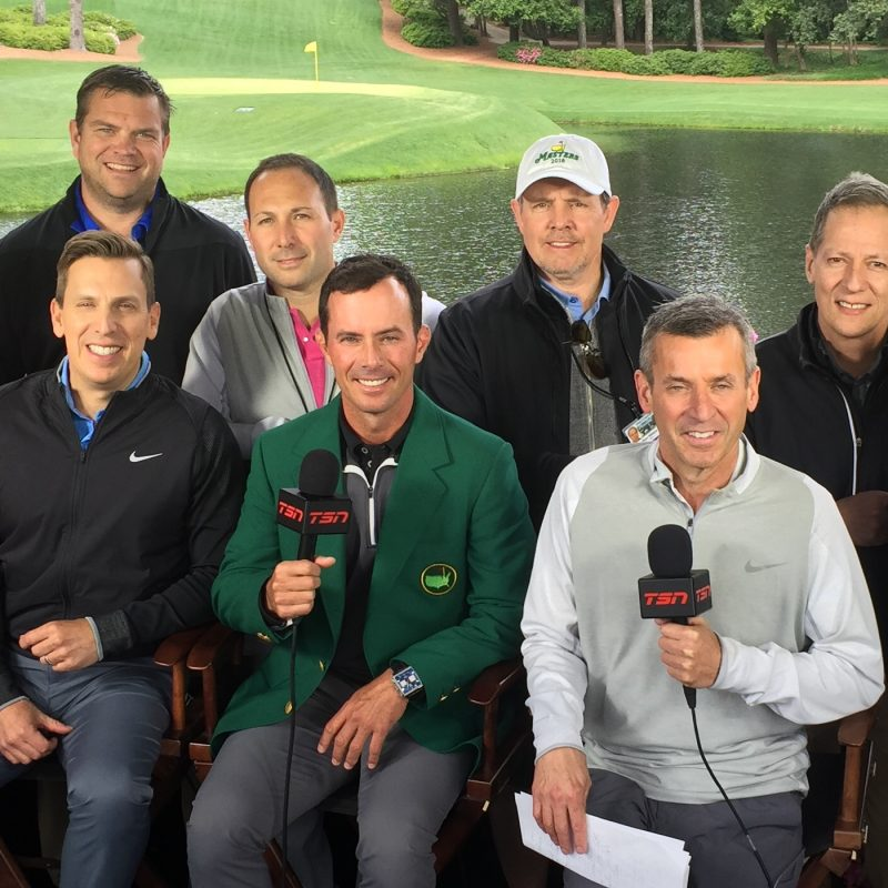 TSN Masters Crew with MIke Weir