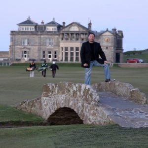 The Swilcan Bridge at St Andrews Links golf course, Scotland